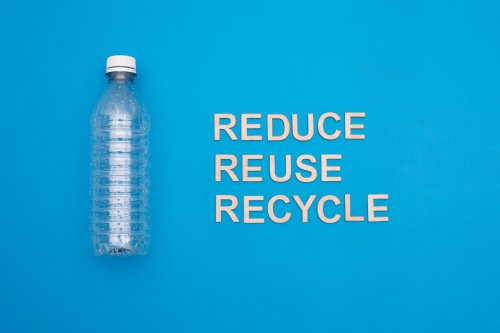 reduce, reuse, recycle plastic bottles