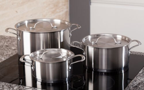 Clean Stainless Steel Pots