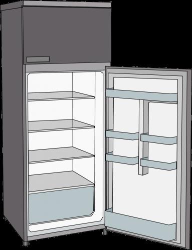 digital image of open fridge
