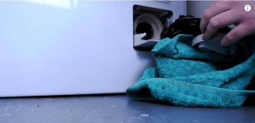dirty filter of washing machine