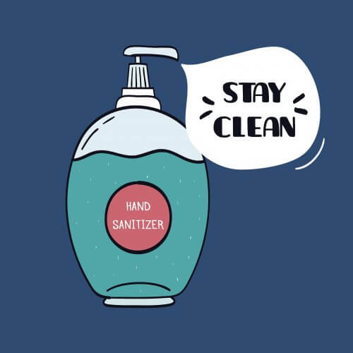 Hand sanitiser to stay clean