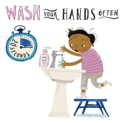 stop COVID-19 by washing hands